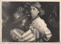 Anna and Karel Smržovi on a ball of the Umělecká beseda forum , 1930s