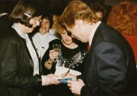 With Jitka Vodňanská and Václav Havel, World Family Therapy Congress, 1991