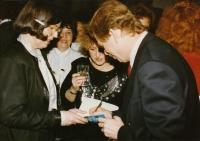 With Jitka Vodňanská and Václav Havel, World Family Therapy Congress, 1991