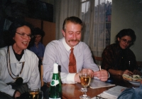 With Vladimír Řehan, handing down the leadership of the Czech-Moravian Psychological Society