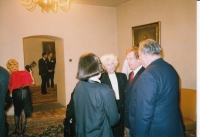 With Olga and Václav Havel, World Family Therapy Congress, 1991