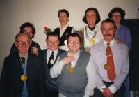 Handing down the leadership of the Czech-Moravian Psychological Society - Urban, Mertin, Kuťák, Havlínová, Šturma, Hana Junová, Řehan, Kotrlová