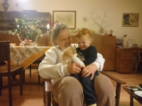 With great-grandson Ondřej
