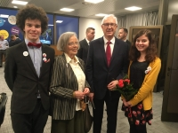 With grandchildren and professor Drahoš