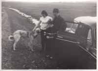Hana Junová, Alexander Dubček, son Honza and  dog