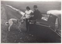 Hana Junová, Alexander Dubček, son Honza and  dog