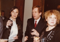Hana Junová, Václav Havel, Jitka Vodňanská, World Family Therapy Congress, 1991