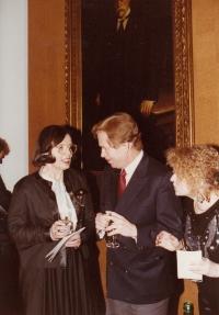 Hana Junová, Václav Havel, Jitka Vodňanská, World Family Therapy Congress, 1991
