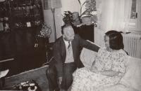 With Alexander Dubček, 1989