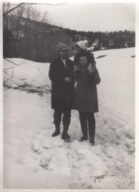 With Alexander Dubček and daughter Markéta