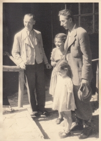 With Jindřich Plachta, circa 1942
