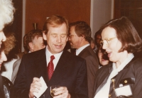With Václav Havel, World Family Therapy Congress,1991