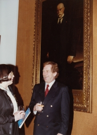 With Václav Havel, World Family Therapy Congress, 1991