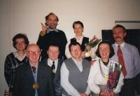 Hana Junová handing down the leadership of the Czech-Moravian Psychological Society