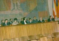 Hana Junová presiding at the World Family Therapy Congress,1991