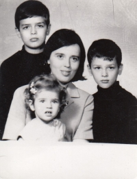 With kids - passport picture to Turkey, 1969