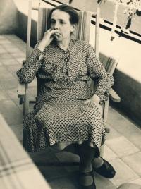 Grandma Olga Smržová, circa 1937