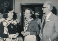 With the Stolze couple, Lindau, 1977