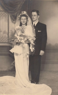 Anna and Zdeněk Bařina, a wedding photo