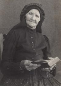 Great grandmother Josefa Uher, neé Čech