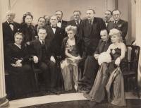Karel Smrž with actors