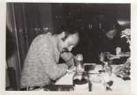 Petr Skoumal at dinner