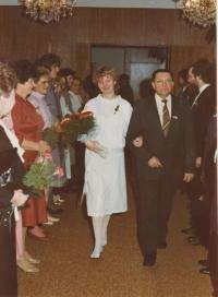 Josef Trpák na svatbě své dcery Vladislavy, 1987