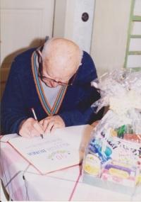 Vojtech Bunda during the celebrations of his 90th birthday