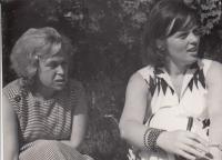 Veronika Mrázková, Hana Junová, Horní Palata, June 1964