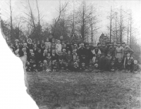The village Kyrylivka in the 1930s. Probably a school photo