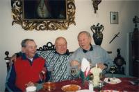 At a cottage in Studenec with friends Josef Lánský and Jan Konopásek, around 2014