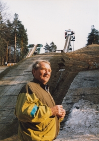 At the ski jump Mostec in Slovenia, 1993