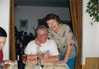 With his wife Vlasta, 2004