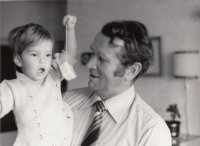 With his granddaughter, the end of 1970s