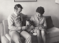 With his wife Vlasta and a granddaughter, the end of 1970s