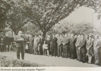 Reunion of witnesses of partisan group Pugačov