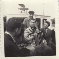 Svitáček and Brousil, FAMU trip, 1952