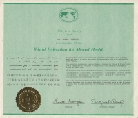 Membership in the World Federation for Mental Health