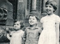 With her older siblings, Anna and Antonín