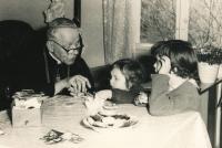 Visiting Cardinal Beran in Mukařov, 1964