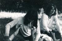 Jáchym Topol (on the right) with Veronika Bartošková on a trip to Wrocław, around 1978