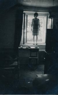 Theater rehearsal in a basement, Nad Klamovkou Street, 1978