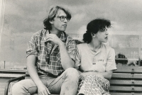 Visiting Ivan M. Jirous, July 16, 1986, Terezie Hradilková with Jáchym Topol