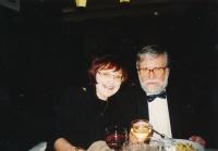Lidmila Lamačová s Ivanem Havlem, kolem roku 2000