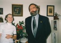 Dcera Jana Patočková s Jiřím Gruntorádem, kolem roku 2005