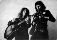 Jesse Ballard and Joe Kucera in London in the 1970s