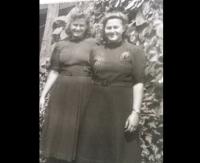 Helena (left) and Eva Lengyelová, Kisbér, 1942.