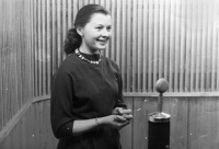Eva Mudrová, first broadcast of Ostrava Television in 1955