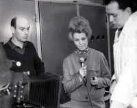 During live broadcast from a diving chamber in hospital in Ostrava, 1960s