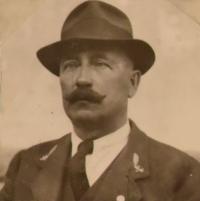 The witness's father, Jiří Timkovič, was the forest administrator